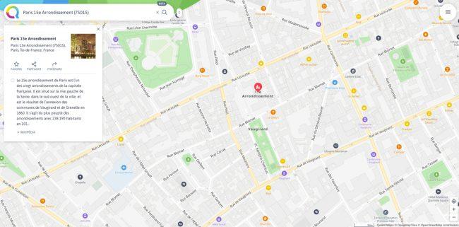 Qwant Maps Beta