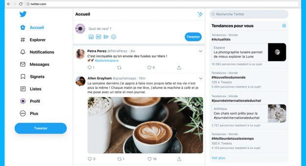 La version Web de Twitter fait peau neuve avec sa nouvelle interface