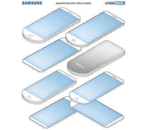 Samsung dépose un brevet pour un smartphone doté de trois écrans