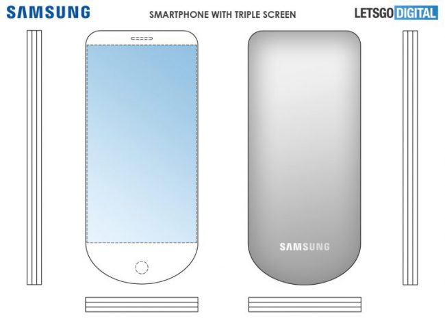 Samsung brevet smartphone 3-en-1
