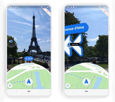 Google Maps : la navigation en réalité augmentée arrive en bêta