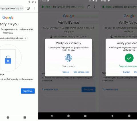 Android : Google permet d'accéder à certains services sans mot de passe