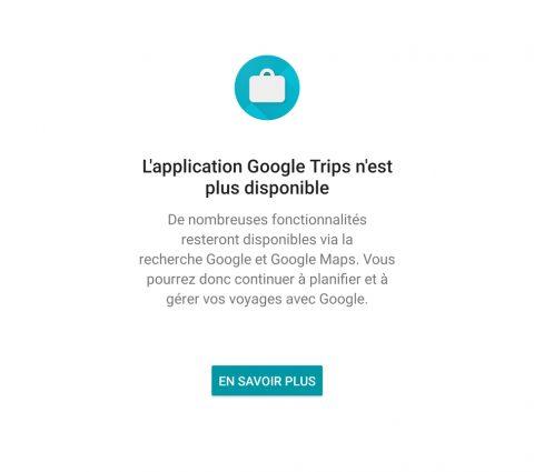 Google Trips : clap de fin pour l'application de voyage