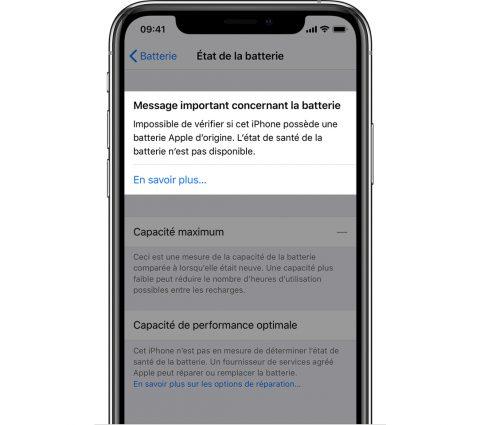 Apple veut mieux contrôler le remplacement de la batterie des iPhone