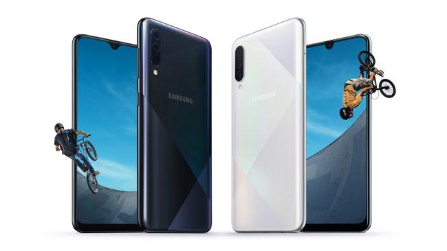 Samsung Galaxy A30s et A50s