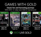 Xbox Games with Gold : les jeux gratuits de septembre 2019
