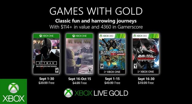 Xbox Games with Gold septembre 2019