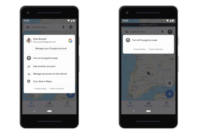 Google Maps : le mode incognito arrive en test sur Android