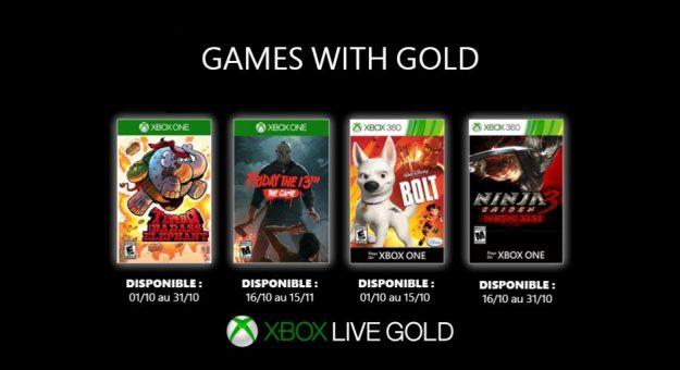 Xbox Games with Gold: les jeux gratuits d'octobre 2019