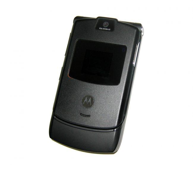 Le Motorola RAZR V3 Black © Creative Commons/Photo by Dante Alighieri