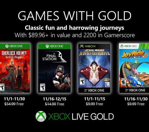 Xbox Games with Gold : les jeux gratuits de novembre 2019