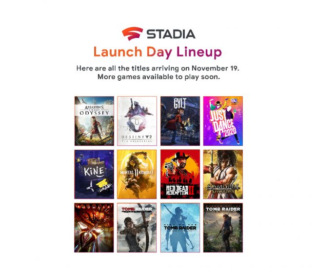 Google Stadia line-up