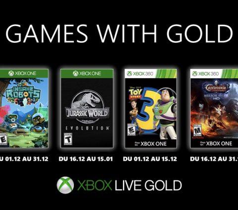 Xbox Games with Gold : les jeux gratuits de décembre 2019