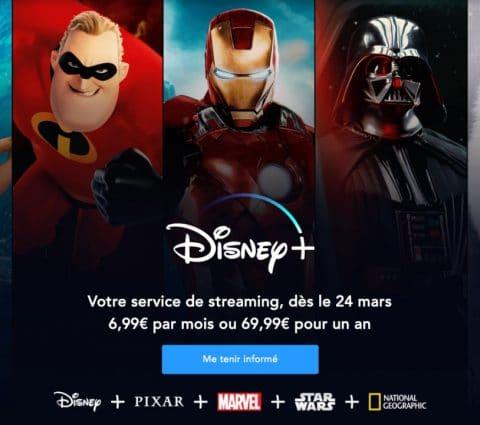 Disney+ : lancement avancé au 24 mars pour le service de sVOD
