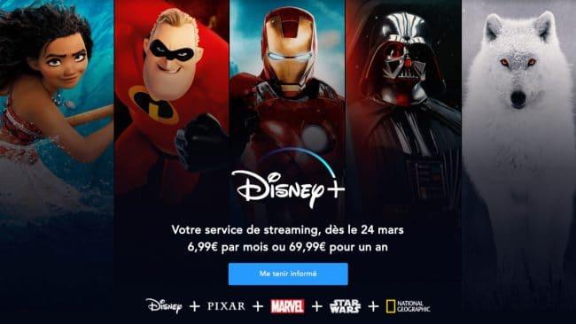 Portail Disney+ © Disney