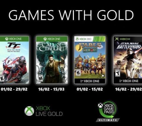 Xbox Games with Gold : les jeux gratuits de février 2020