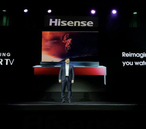 CES 2020 – Hisense dévoile le premier Laser TV à écran enroulable