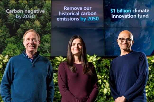 Microsoft vise un bilan carbone négatif d'ici 2030