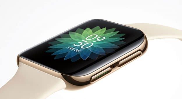 Oppo montre une image de sa montre connectée très «Apple Watch» à écran incurvé