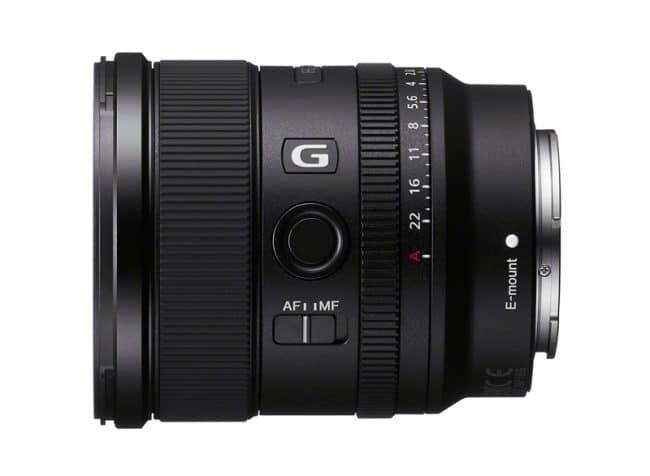 Objectif 20 mm f/1,8 Sony