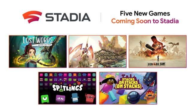 Google Stadia cinq nouveaux jeux