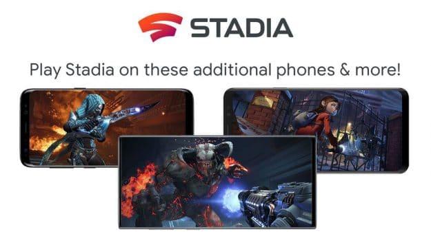 Google Stadia smartphones