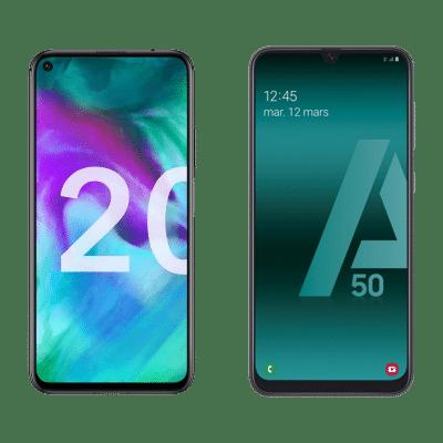 Comparatif : Samsung Galaxy A50 vs Honor 20, lequel choisir ?