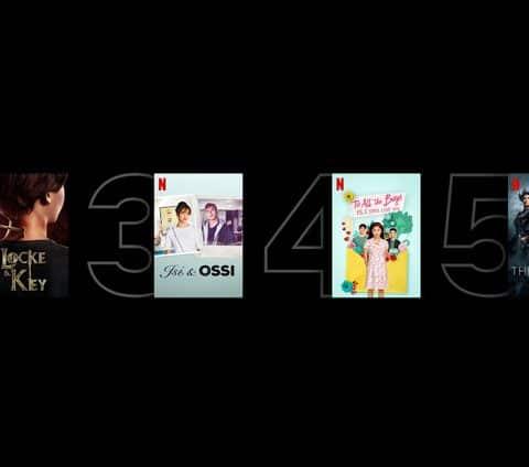 Netflix propose un classement des films et séries les plus populaires