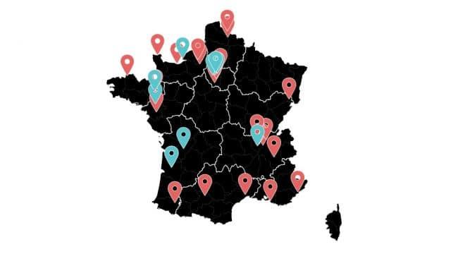 Carte des expérimentations 5G en France