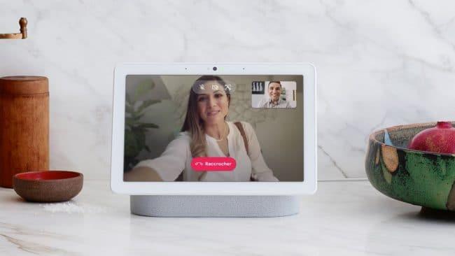 Google Duo sur le Nest Hub Max