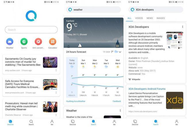 Huawei Search application