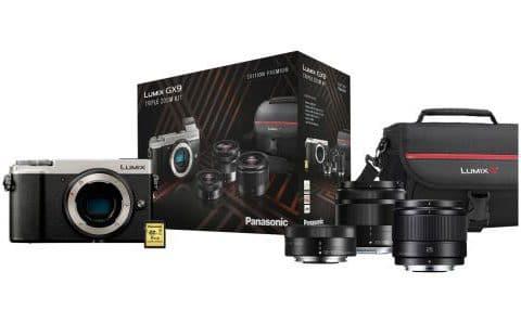 Bon Plan – Le pack hybride Panasonic Lumix GX9 avec 3 objectifset accessoires à 849 €