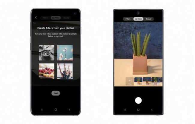 Custom Filter sur les Galaxy S10 et Note 10