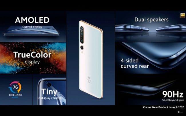 Lancement global des Xiaomi Mi 10