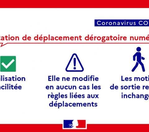 Confinement : l'attestation de déplacement est disponible au format numérique