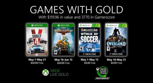 Games with Gold : quatre jeux gratuits pour les abonnés Xbox Live Gold en mai
