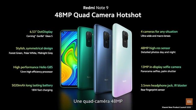 Xiaomi Redmi Note 9 et Note 9 Pro : voici la gamme disponible à  l'international