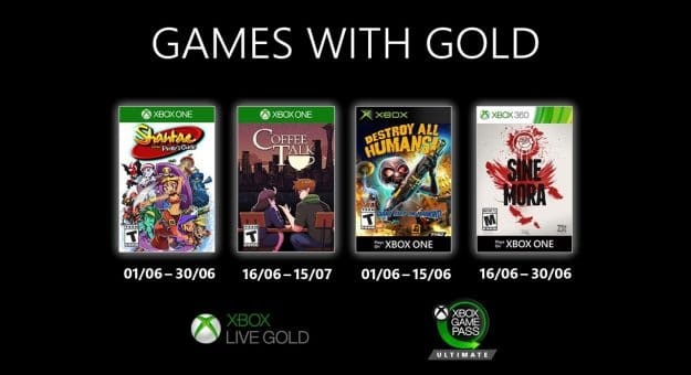 Xbox Games with Gold de juin 2020