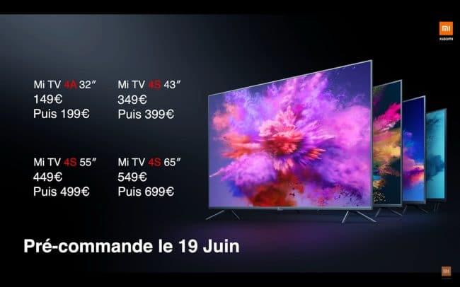 Présentation des Xiaomi Mi TV 4S et 4