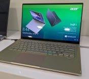 Acer Swift 5 : WiFi 6, écran tactile surélevé et charge rapide au menu