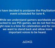 PlayStation 5 : la conférence de Sony reportée