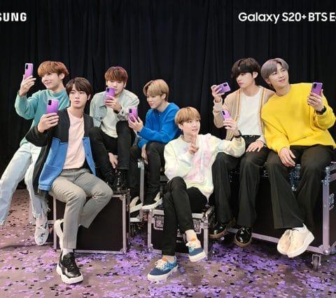 Samsung Galaxy S20+ et Galaxy Buds+ Édition BTS : la K-pop à l'honneur