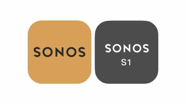 Les applications Sonos S2 (à gauche) et Sonos S1 Controller (à droite) se reconnaissent également à leurs icônes © Sonos