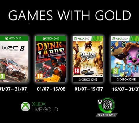 Xbox Live Gold : Microsoft dévoile les jeux gratuits de juillet 2020