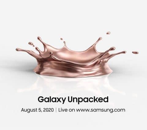 Galaxy Unpacked 2020 : Samsung dévoilera ses nouveautés le 5 août