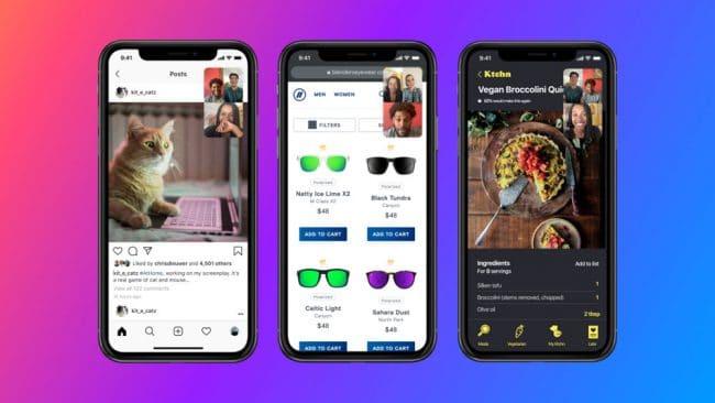 Facebook Messenger partage d'écran