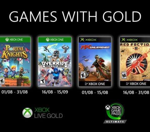 Games with Gold : les jeux Xbox gratuits du mois d'août 2020
