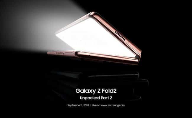 Invitation Samsung Galaxy Z Fold2