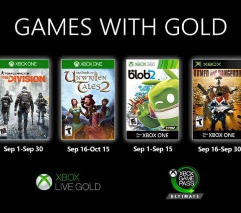 Games with Gold : les jeux Xbox gratuits du mois de septembre 2020