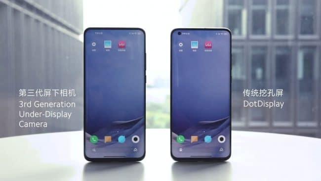 Xiaomi caméra sous écran